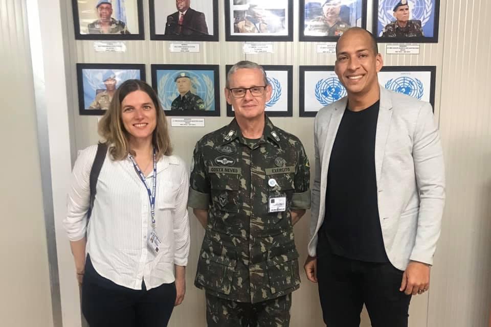 Flávio Saudade,se reuniu com o General Ricardo Costa Neves, Comandante da Missão das Nações Unidas para a Estabilização da República Democrática do Congo (MONUSCO).